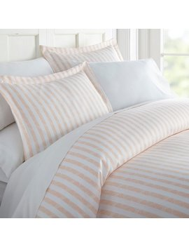 Merit Linens Premium Ultra Soft 3 Piece Rugged Stripes Duvet Cover Set by Merit Linens