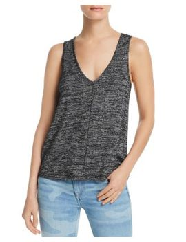 Hudson Heathered V Neck Tank by Rag & Bone/Jean