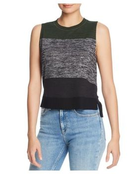 Bowery Striped High/Low Top by Rag & Bone/Jean