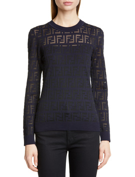 Logo Jacquard Sweater by Fendi