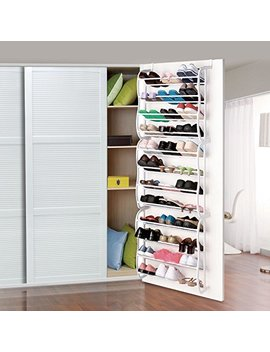 36 Pair Over The Door Shoe Rack Wall Hanging Closet Organizer Storage Stand by Unknown