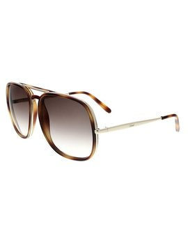 Chloe Ce726 S 219 Tortoise Aviator Sunglasses by Chloe