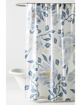Catamarca Floral Shower Curtain by Anthropologie