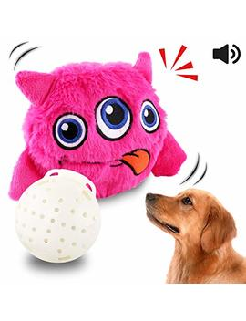 Petbobi Upgrade Dog Toys Interactive Monster Plush Giggle Ball Shake Squeak Crazy Bouncer Toys Exercise Electronic Toy For Puppy Motorized Entertainment For Pets by Petbobi