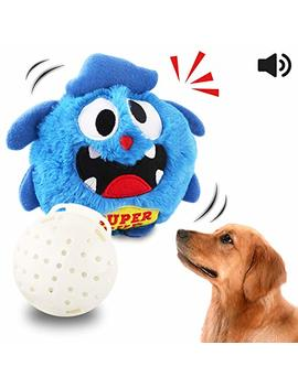 Petbobi Automatic Dog Toys Interactive Plush Giggle Ball Shake Squeak Crazy Bouncer Toys Exercise Electronic Toy For Puppy Motorized Entertainment For Pets by Petbobi