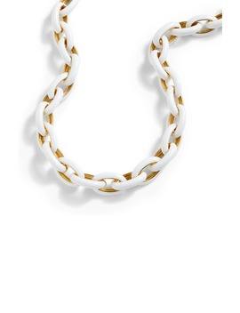 Enamel Oval Link Necklace by J.Crew