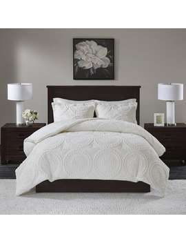 Madison Park Nova Ivory Embroidered Medallion Ultra Plush Comforter 3 by Madison Park