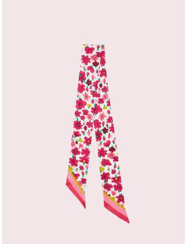 Marker Floral Skinny Scarf by Kate Spade