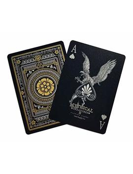 Gent Supply Plastic Waterproof Mythical Creatures Ii (All New Creatures)   Black Silver & Gold Edition Playing Cards by Gent Supply