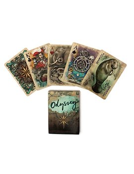 Odyssey Historical Themed Poker Size Playing Cards Uniquely Illustrated For Cardistry Or Magic Card Tricks by Glow Creative Innovations