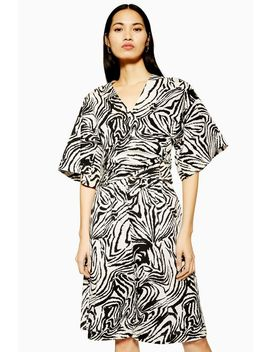 **Zebra Wrap Shirt By Boutique by Topshop