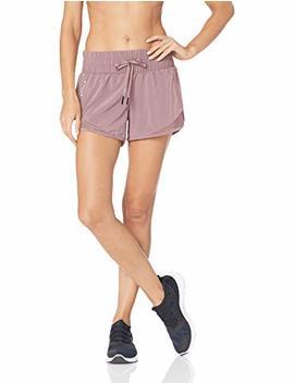 "Amazon Brand   Core 10 Women's (Xs 3 X) Wide Waistband Woven Run Short With Back Zip Pocket   3.5"" by Core 10"