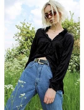 Black Vintage Velvet Shirt by Eliza Likes