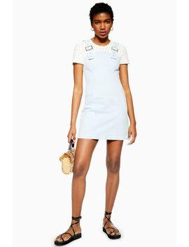 Buckle Bleach Denim Dress by Topshop