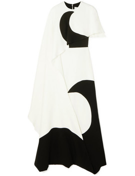 Layered Printed Silk Jersey Gown by Valentino