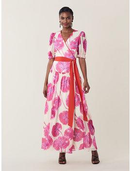 Breeze Silk Chiffon Maxi Wrap Dress by Dvf