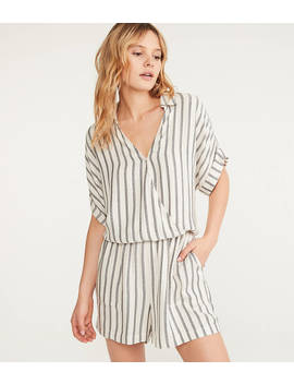 Lou & Grey Shadow Stripe Romper by Loft