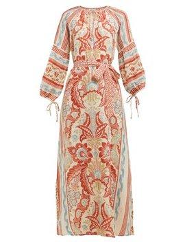Georgina Floral Print Cotton Voile Dress by D'ascoli