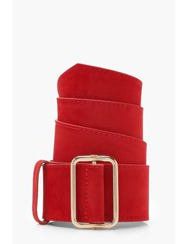 Chunky Suedette Belt by Boohoo
