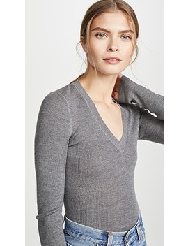 Wash & Go Knit V Neck Top by Alexanderwang.T