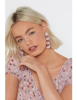 Pink Velvet Drop Earrings by Nasty Gal