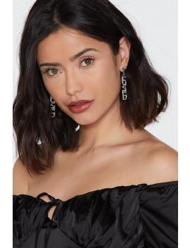 Loved By All Diamante Drop Earrings by Nasty Gal