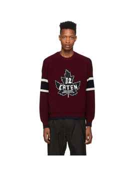 Burgundy Knit Sweatshirt by Dsquared2