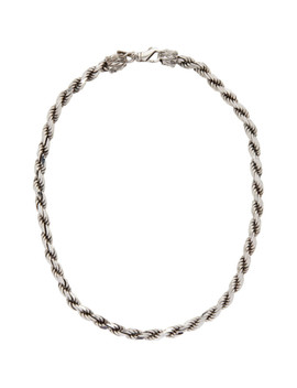 Silver French Rope Necklace by Emanuele Bicocchi