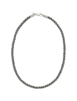 Silver Diamond Cut Braided Necklace by Emanuele Bicocchi