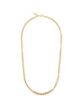 Ssense Exclusive Gold Crochet Necklace by Emanuele Bicocchi