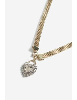**Mesh Chain Heart Necklace by Topshop