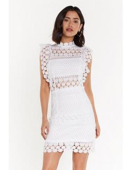 High Neck Lace Dress by Nasty Gal