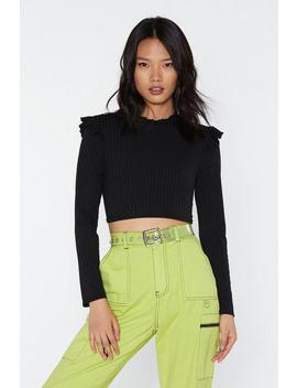Girls On Film Ribbed Ruffle Top by Nasty Gal