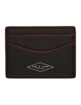 Black Hampshire Card Holder by Rag & Bone