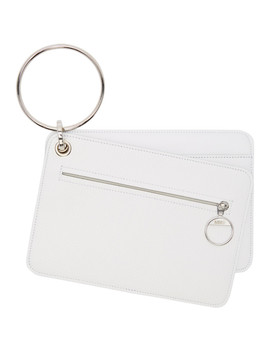 White Keyring Wallet Set by Mm6 Maison Margiela