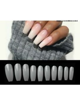 Diy Coffin Shape Half Cover Press On Nails French Acrylic False Nail Tips 100pcs by 100pcs/Box Diy China