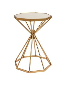Lizbeth Iron End Table   Gold   Abbyson by Gold