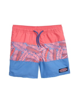 Island Palm Pieced Chappy Swim Trunks by Vineyard Vines