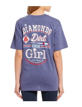 """Diamonds And Dirt Kinda Girl"" Graphic Tee by Jadelynn Brooke"