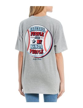Baseball People Graphic Tee by Jadelynn Brooke