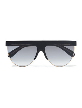 D Frame Acetate And Gold Tone Sunglasses by Givenchy