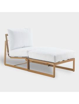 Gold Laila Outdoor Occasional Chaise Lounge by World Market