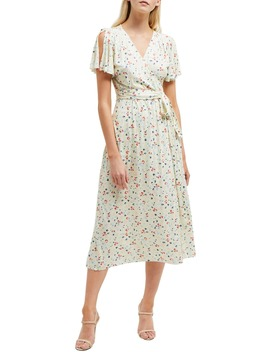 Roseau Meadow Floral Wrap Front Dress by French Connection