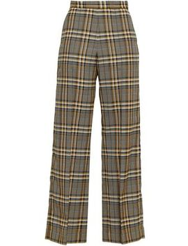 Narissa Checked Jacquard Wide Leg Pants by Baum Und Pferdgarten