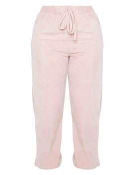 Shape Rose Velour Drawstring Joggers by Prettylittlething