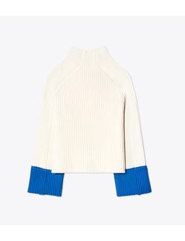 Merino Contrast Cuff Sweater by Tory Burch