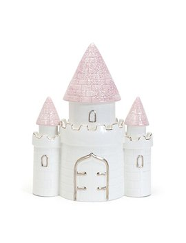 Child To Cherish Ceramic Dream Big Princess Castle Piggy Bank For Girls, Pink by Child To Cherish