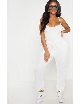 Shape Cream Jersey Strappy Bodysuit  by Prettylittlething