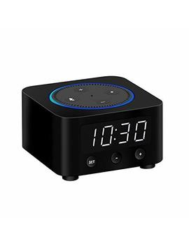 Clock Stand For Amazon Echo Dot 2nd Gen (Not 3rd Gen)   Black by Znewtech