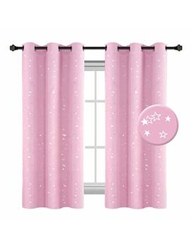 H.Versailtex Night Twinkle Thermal Insulated Blackout Curtain, Creative Room Darkening Grommet Nursery Window Drape For Kid's Room With Sliver Stars, 1 Panel, W40 X L63 Inch by H.Versailtex